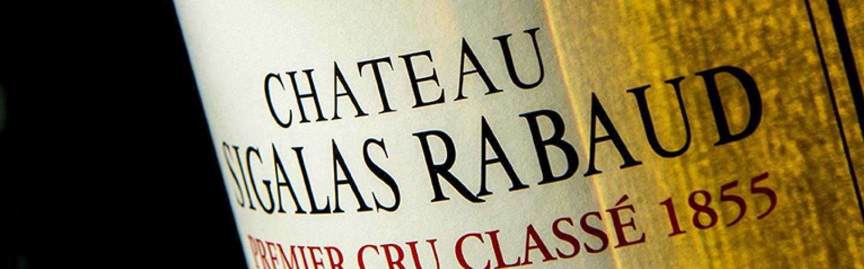 Étiquette Le Château Sigalas Rabaud Premier Cru Classé 1855.