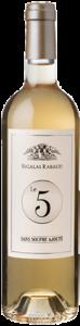 La bouteille du vin Le 5 Sans Soufre Ajouté de Sigalas