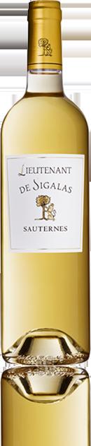 La bouteille du vin Le Lieutenant de Sigalas.