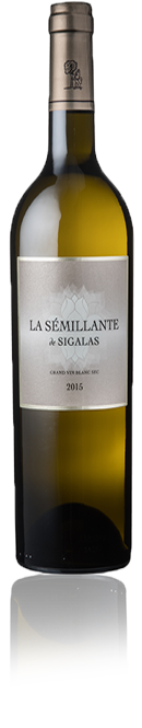 La bouteille du vin La Sémillante de Sigalas.