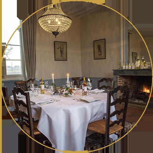 La salle à manger de Sigalas, endroit pour Un Dîner à Sigalas.