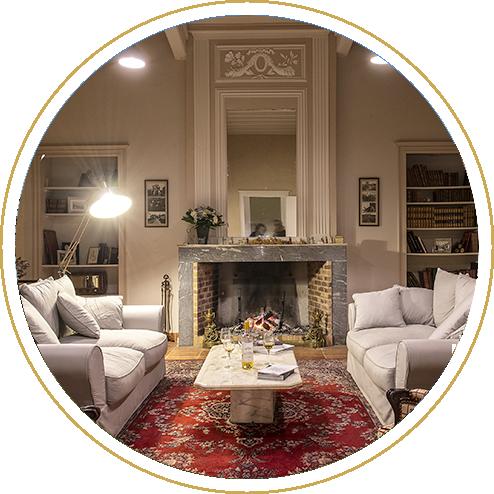 Le Salon de Sigalas, partie commune des chambres d'hôtes.